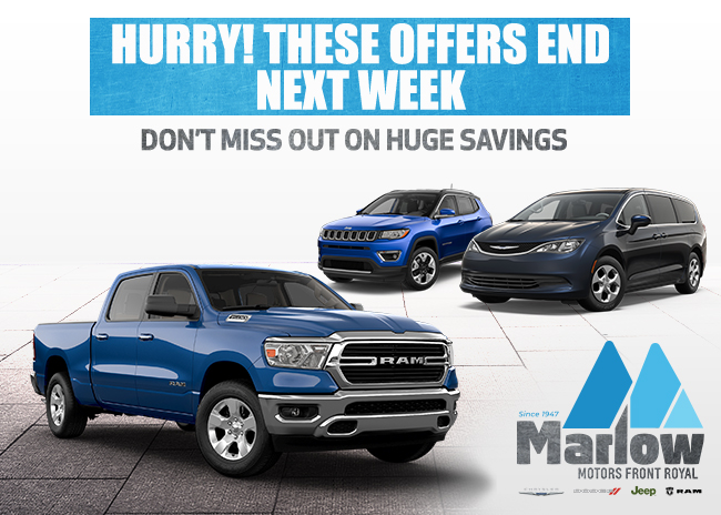 Hurry! These Offers End Next Week