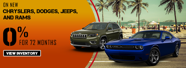 0% APR for 72 Months On New Chryslers, Dodges, Jeeps and RAMS