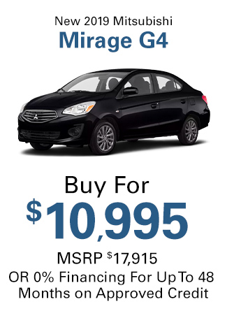 New 2019 Mitsubishi Mirage G4