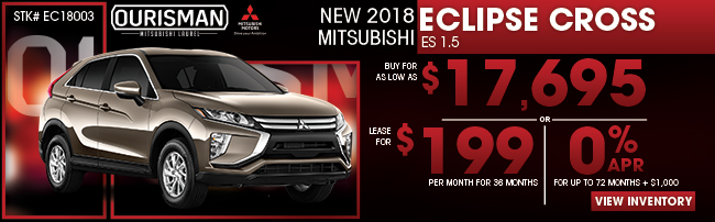 New 2018 Mitsubishi Eclipse Cross ES 1.5