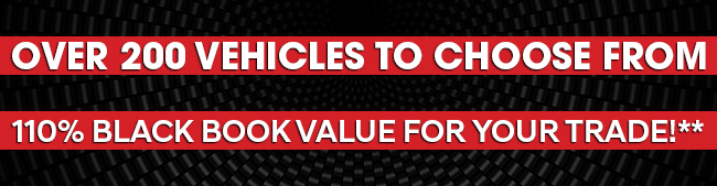110% Black Book Value For Your Trade