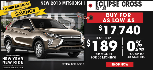 New 2018 Mitsubishi Eclipse Cross ES 1.5T