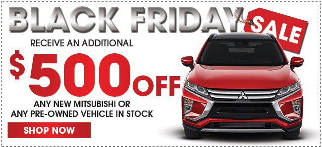 Additional $500 Off Any Pre-Owned Mitsubishi