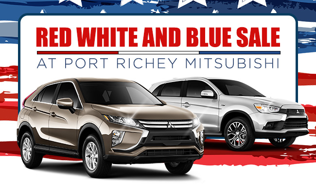 Red White And Blue Sale At Port Richey Mitsubishi
