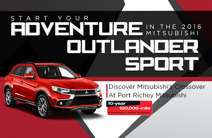 Start Your Adventure in the 2016 Mitsubishi Outlander Sport
