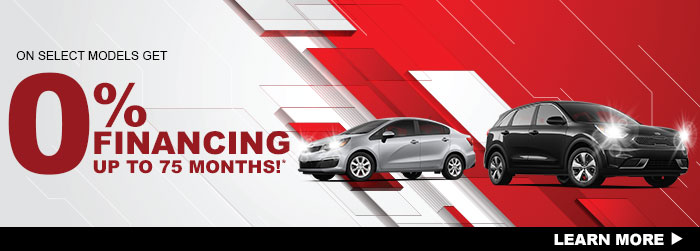 On Select Models  Get 0% Financing to 75 Months!