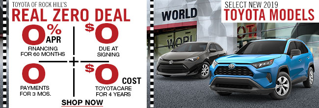 Toyota of Rock Hill's Real Zero Deal