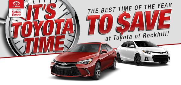 It's ToyotaTime! The Best Time Of The Year To Save at Toyota of Rockhill!