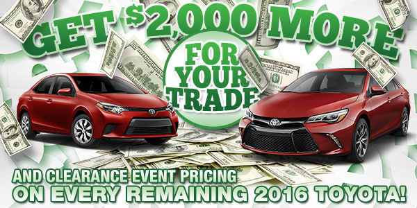 Get $2,000 More For Your Trade
