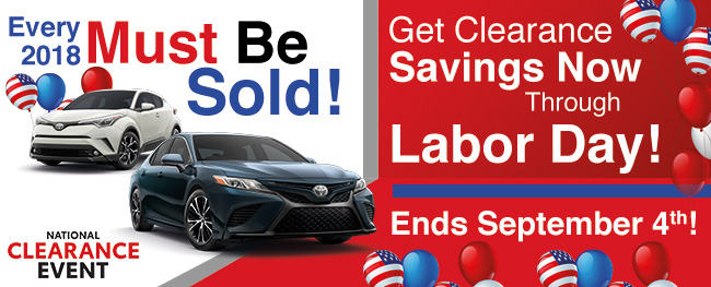 Toyota of Rock Hill's Labor Day Savings!