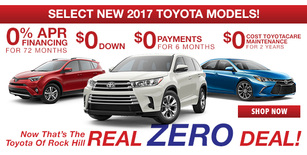Select New 2017 Toyota Models