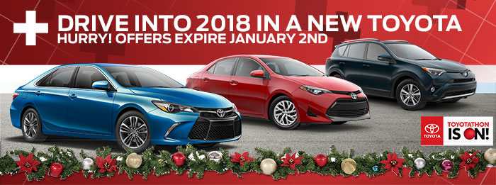 Drive Into 2018 In A New Toyota