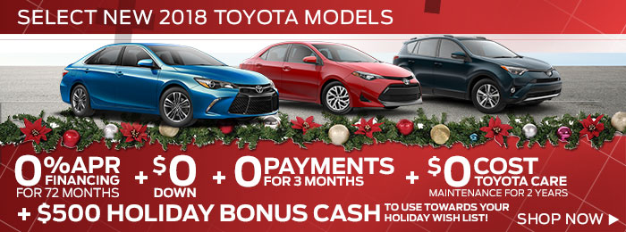 Select NEW 2018 Toyota Models