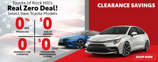 Toyota of Rock Hill Real Zero Deal